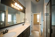 Spacious master bath in this new home, located at 15933 Positano Drive, Edmond, OK | Deer Creek Park