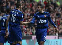 Carrick and RvP - Stoke 2013 (away) goal scorers