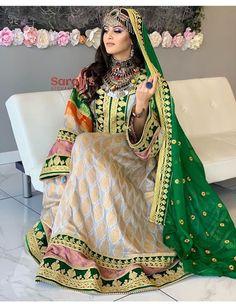 Indian Fashion Dresses, Ethnic Fashion, Pakistani Dresses, Women's Fashion, Afghani Clothes, Arabic Wedding Dresses, Afghan Wedding, Afghan Girl, Rajputi Dress