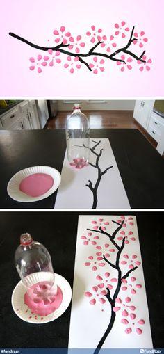 #DIY Cherry Blossom Art