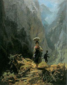 File:Dirndl und Jaeger im Gebirge (Carl Spitzweg).jpg