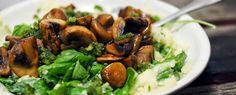 Gewoon wat een studentje 's avonds eet: Recept: Stamppot spinazie met honingchampignons en...