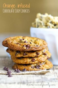 vegan: orange chocolate chip cookies...
