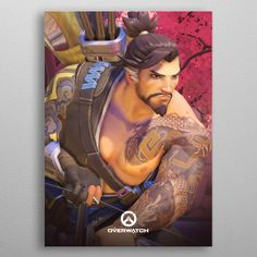 """Beautiful """"Hanzo"""" metal poster created by Overwatch . Our Displate metal prints will make your walls awesome. Gaming Posters, Overwatch, Poster Prints, Princess Zelda, Wallpaper, Fictional Characters, Beautiful, Art, Art Background"""