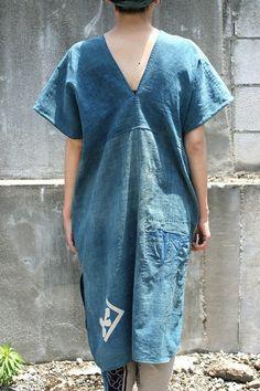 Wenig Indigo gefärbt Tuch Patchwork Karen ein von SASAKIYOHINTEN