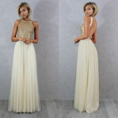 c2e28d8589ad Hot Selling A-line Sequins Long Tulle Bridesmaid Dress. Abiti Da Damigella  D onore ...