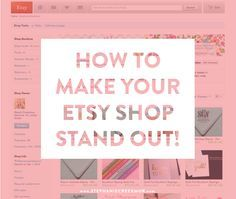 Selling on Etsy: How to Set Yourself Apart via Stephanie Creekmur - for if I ever get crafty enough