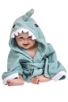 #Kapuzenhandtuch #Baby von Lexikind   kuscheliger Frottee Bademantel mit Tiermotiven   #Babyhandtuch mit Kapuze   lustiges Kapuzenbadetuch (#Hai blau): Amazon.de: Baby (Werbelink)