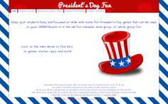 President's Day Fun- All in ONE Place! #kids #education #games