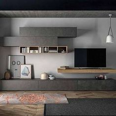 Best Ways to Decorate TV Wall Design In Your Living Room www. Best Ways to Decorate TV Wall Design In Your Living Room www. Living Room Tv Unit, Home Living Room, Living Room Designs, Living Room Decor, Italian Living Room, Tv Wall Design, Tv Shelf Design, Tv Cabinet Design, Tv Unit Design