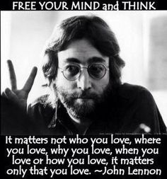 it matters only that you love....