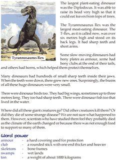 Grade 3 Reading Lesson 22 Nonfiction - Dinosaurs (1)