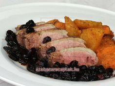 Kacsamell áfonyás szószban • Recept | szakacsreceptek.hu Pork, Recipes, Kale Stir Fry, Food Recipes, Rezepte, Pork Chops, Recipe, Cooking Recipes