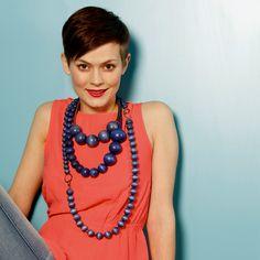 Blue necklaces by Aarikka