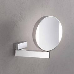 Emco Universal LED shaving / beauty mirror, round, wall-mounted, with direct connection 109506017 USA - Italian Luxury Decor Shop Lighted Magnifying Makeup Mirror, Makeup Mirror With Lights, Magnifying Glass, Vanity Wall Mirror, Round Wall Mirror, Emco Bad, Modern Bathroom Sink, Bathroom Ideas, Bathroom Mirrors