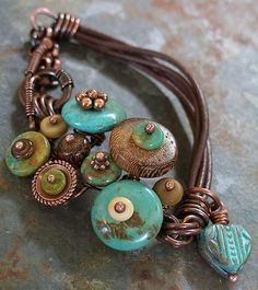 turquoise button bracelet 021 | Flickr - Photo Sharing!