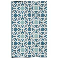 You'll love the Martina Hand Woven Blue Indoor/Outdoor Area Rug at AllModern - With Great Deals on modern Décor + Pillows products and Free Shipping on most stuff, even the big stuff.