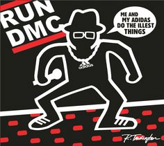 Art lesson at Collins Middle School about artist Keith Haring with music being the theme. Artwork by art teacher Ricky Talkington as a sample for his students about the lesson. RUN DMC design