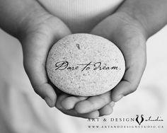 Dare to Dream - inspirational quote   www.artanddesignstudio.ca via etsy