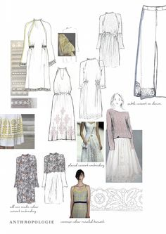 Fashion Sketchbook - dress sketches; creative fashion design process; fashion student portfolio // Emma Elise Morgan