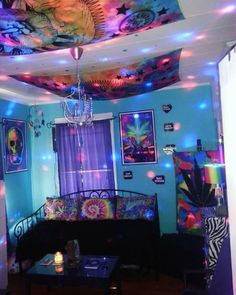 awesome-certainly-hippie-room-decor-psychedelic-room-super-trippy-trippy-psychedelic-room-not-mine-but-its-super-awesome-and-i-most-certain/ SULTANGAZI SEARCH Hippie Bedroom Decor, Hippy Bedroom, Cute Room Ideas, Cute Room Decor, Dope Rooms, Neon Room, Hangout Room, Chill Room, Aesthetic Room Decor