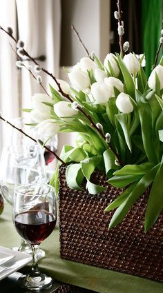 tulip centerpiece...