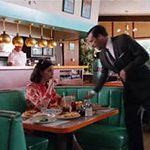 """HOWARD JOHNSON INTERIOR The infamous Googie HoJo's in season five's """"Far Away Places"""" is played by two buildings: the interior is Rod's Diner in Arcadia. - 41 WEST HUNTINGTON DRIVE, ARCADIA, CA 91007"""