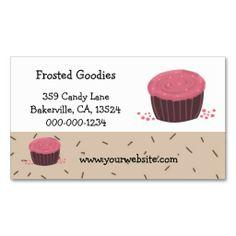 Cute Mini Cupcake Design Business Card Cupcakes Design Cupcake - Cupcake business card template