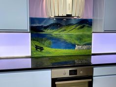 This stunning bespoke glass splashback was delivered to a lovely kitchen in Exmouth, Devon. It was created using a customer-provided photo as reference. The design was directly inspired by the customers' favourite place, the Lake District of course! Devon House, Splashback, Fused Glass Art, Panel Art, Lake District, All Design, Bespoke, Scene, Inspired