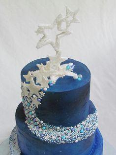 Christmas Birthday, 8th Birthday, Birthday Cake, Starry Night Wedding, Starry Nights, Beautiful Cakes, Amazing Cakes, Galaxy Cake, Teen Cakes