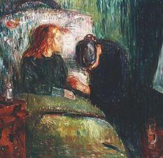 The Sick Child via Edvard Munch Size: 120x118.5 cm Medium: oil on canvas