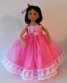 Pink-princess-dress-fits-Dianna-Effner-13-inch-Little-Darling-dolls
