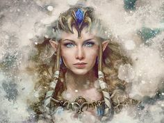 Legend of Zelda Epic Princess Zelda Painting  by barrettbiggers,
