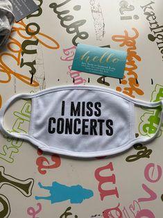 I miss concerts new custom mask   Etsy