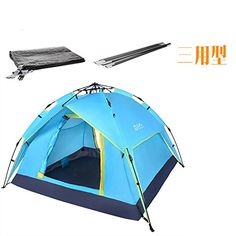 34 persons 225205140cm Double layer weather resistant outdoor camping tent for fishing hunting adventure and family party *** Details can be found by clicking on the image.