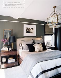 A gentleman's bedroom - I like this b/c I can't have things too girlie for me and hubby but this is so nice it would please us both...