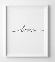 "Nursery Printable, wall art quote ""Love"" minimalist art, Wall art printable, Black and white nursery Nursery Wall Art, Wall Art Decor, Wall Art Prints, White Nursery, Bedroom Wall, Nursery Quotes, Bedroom Decor, Love Wall Art, Bedroom Plants"