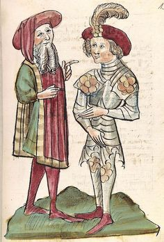 'Virginal' — Hagenau - Werkstatt Diebold Lauber, um 1444-1448 Cod. Pal. germ. 324 Folio 153r