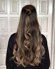 ☆ ☆ ☆ Balayage Brunette, Brunette Hair, Balayage Hair, Ombré Hair, Hair Day, Long Hair Highlights, Caramel Highlights, Ombre Hair Color, Light Brown Hair