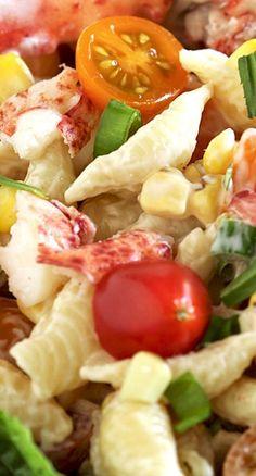 Lobster Pasta Salad with Lemon Tarragon Dressing