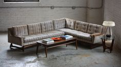 Majestic Mid Century Modern Sculptural Sectional Sofa (U.S.A., 1960s)   by K2MODERN