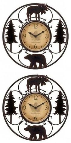 Plaques and Signs 31587: Moose Wall Clock Wildlife Rustic Decor Home Lodge Cabin 11 Inch Bear Gift New -> BUY IT NOW ONLY: $54.95 on eBay!