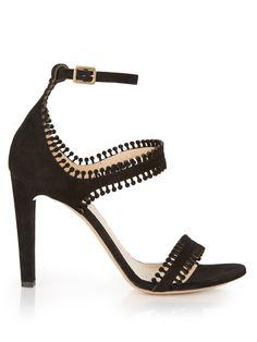 Laser-cut suede sandals   Chloé   MATCHESFASHION.COM US