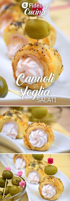 I cannoli di sfoglia salati sono degli antipasti golosi, originali e molto semplici da preparare. Ecco la ricetta ed alcune varianti