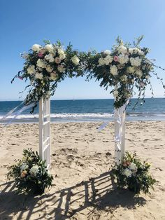 Arch Flowers, Wedding Set Up, Table Decorations, Beach, Weddings, The Beach, Wedding, Beaches, Marriage