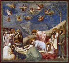 "Giotto (1267–1337), ""The Lamentation (Morning over Christ),"" ca. 1305. Fresco, Arena Chapel (Cappella Scrovegni), Padua #nyusurvey2"
