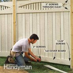 This article tells how to build a durable, good-looking fence, from start to finish. We designed it to be strong, using sandwich construction, and yet easy