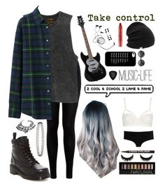 Untitled #3 by whoochu on Polyvore featuring polyvore, fashion, style, Uniqlo, RVCA, Miss Selfridge, Topshop, D&G, Dr. Martens, VidaKush, Coal, Forever 21, tarte, H&M and Grado