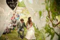 A colourful, hippie chic wedding in France filled with hearts and fun details. The bride wore a Claire Pettibone wedding dress. Pregnant Wedding Dress, Boho Wedding Dress, Weding Dresses, Bridal Musings, French Wedding, Dream Wedding, Wedding Things, Hippie Chic Weddings, Hippy Chic