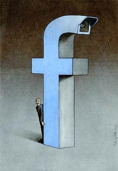 Vlijmscherpe illustraties tonen gevaren van Facebook   B R I G H T